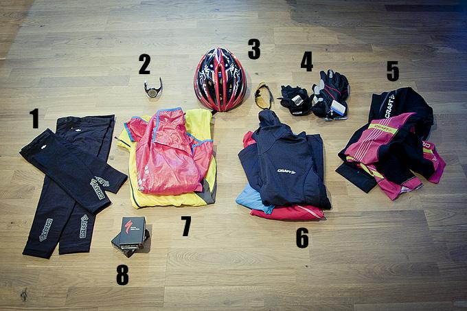 Cykelklädd för +3 och regn