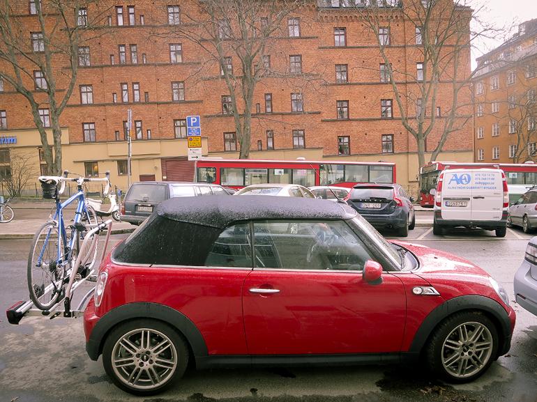 Cykelhållare till Minin