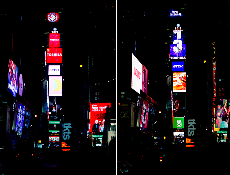 new york times square by night