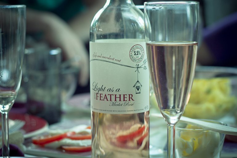 light as a feather wine