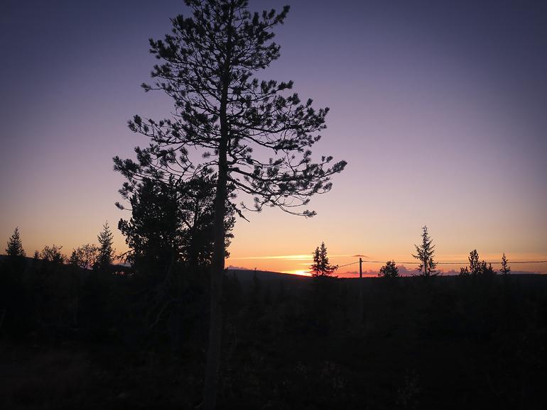 Hemma i Sälen 9 solnedgång