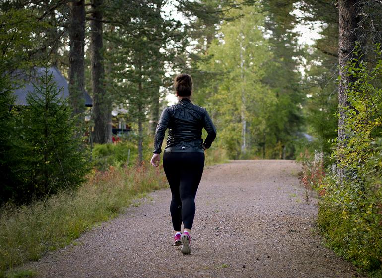 Sara running 1