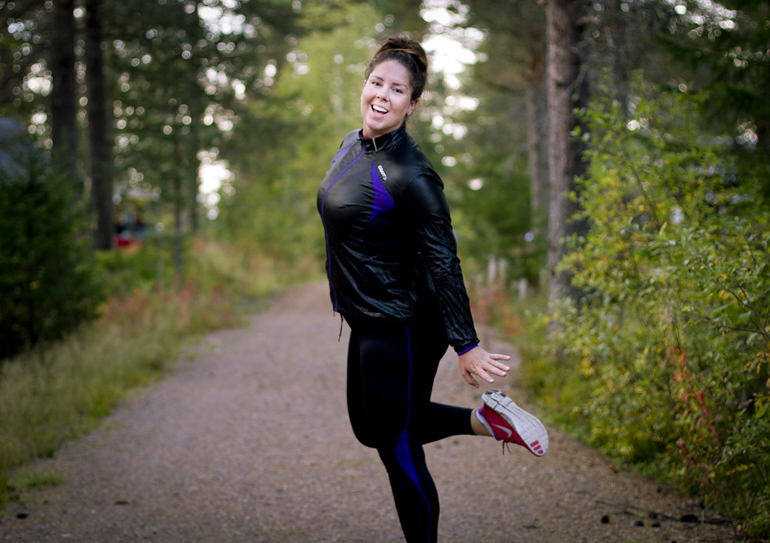 Sara running 2