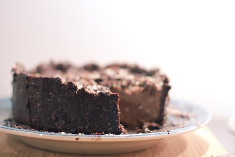 Raw chokladcheesecake