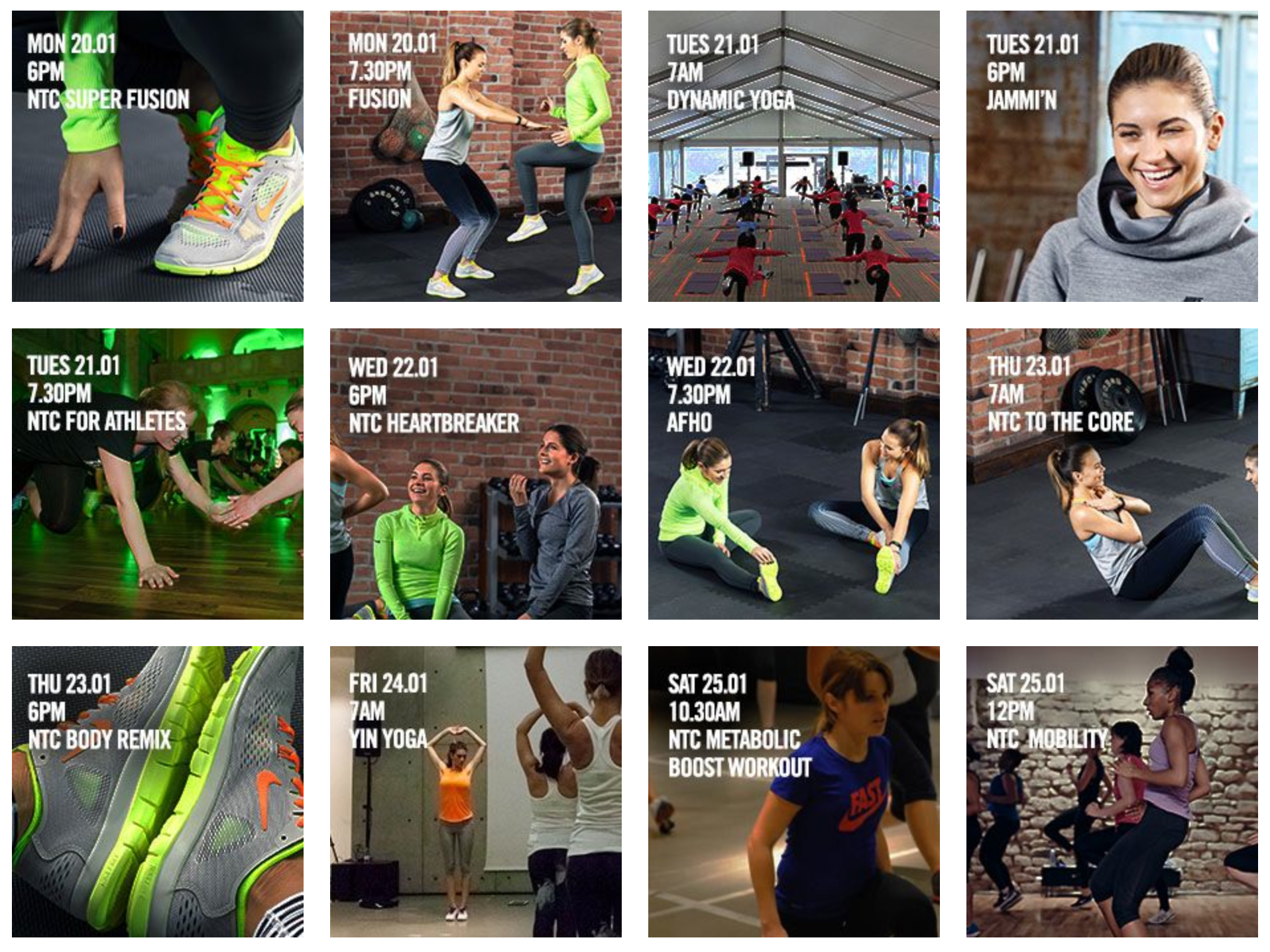 Nike training club Sweden