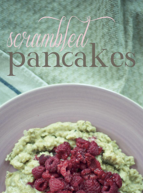 scrambled pancakes