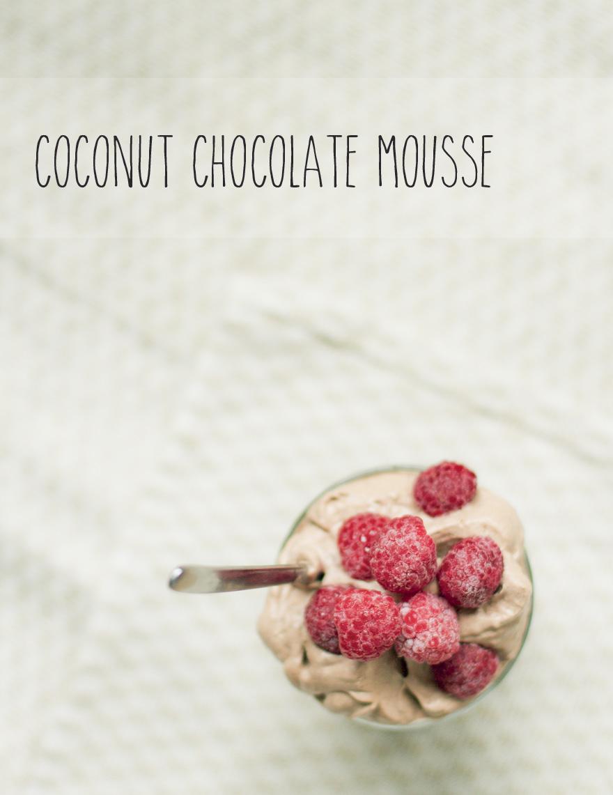 paleo chokladmousse på kokosmjölk, mjölkfri och äggfri