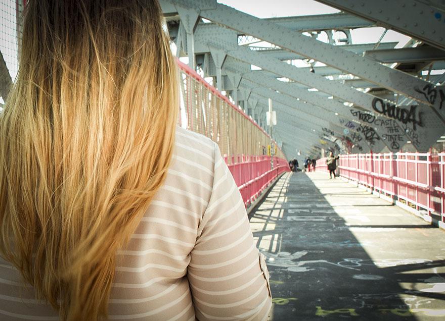 träningsglädje sara ombre nyc williamsburg bridge