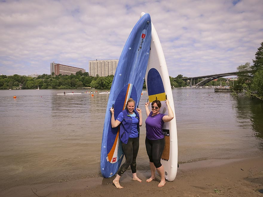 stand up paddling SUP stockholm