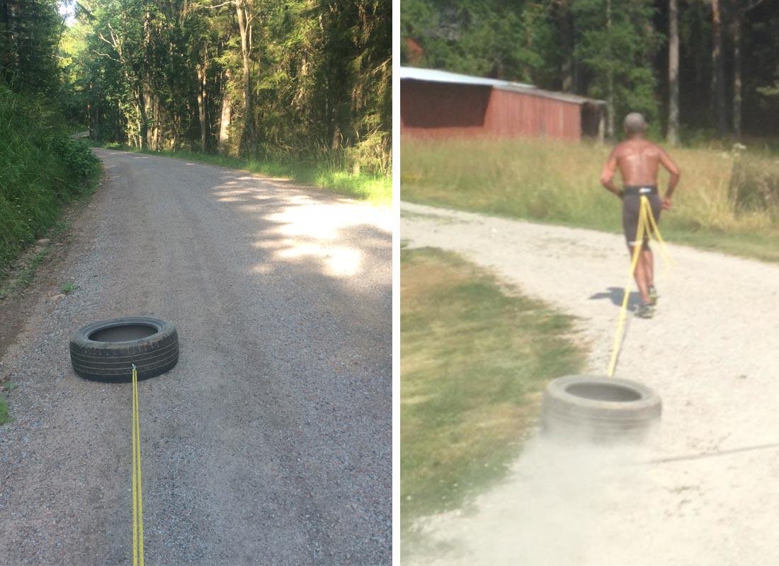 springa med däck