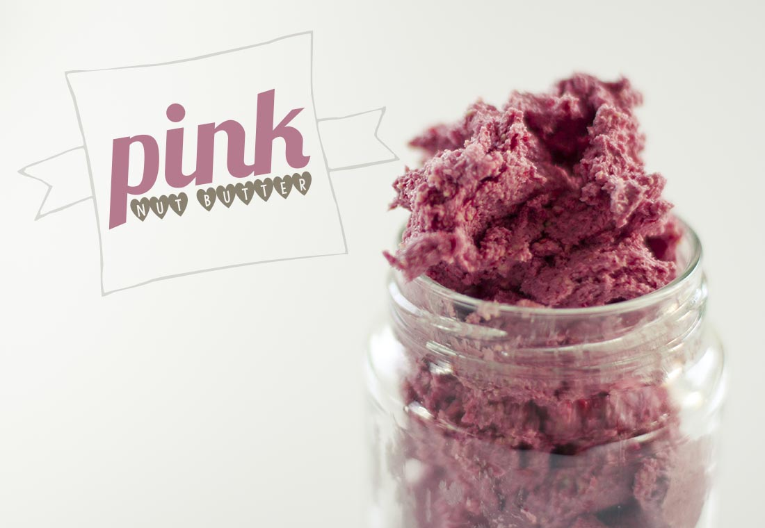 pink nut butter labelled