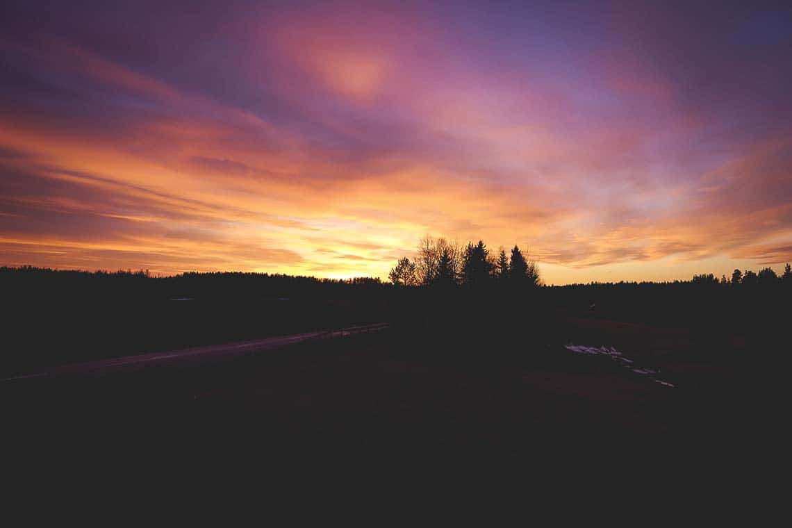 hälsingland solnedgång