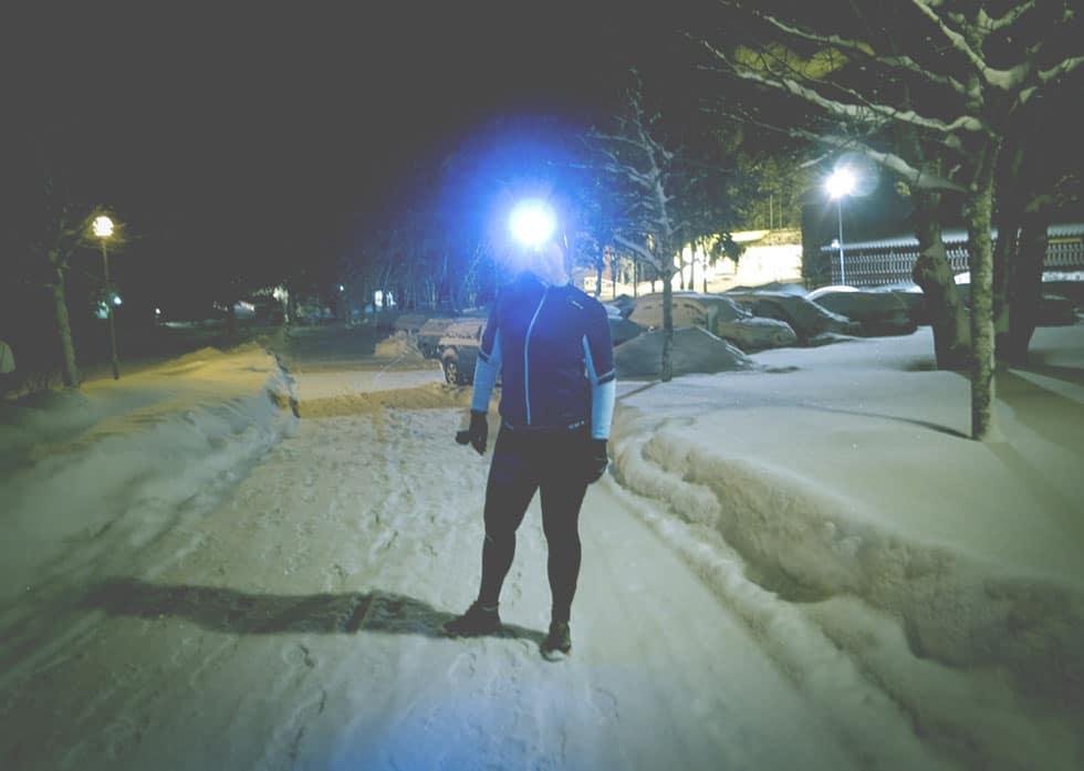 pannlampa från silva för löpning i mörker