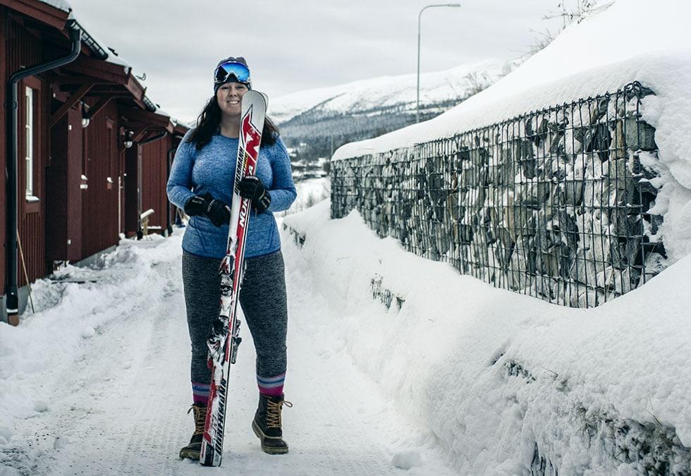 Styrketräning med skidor