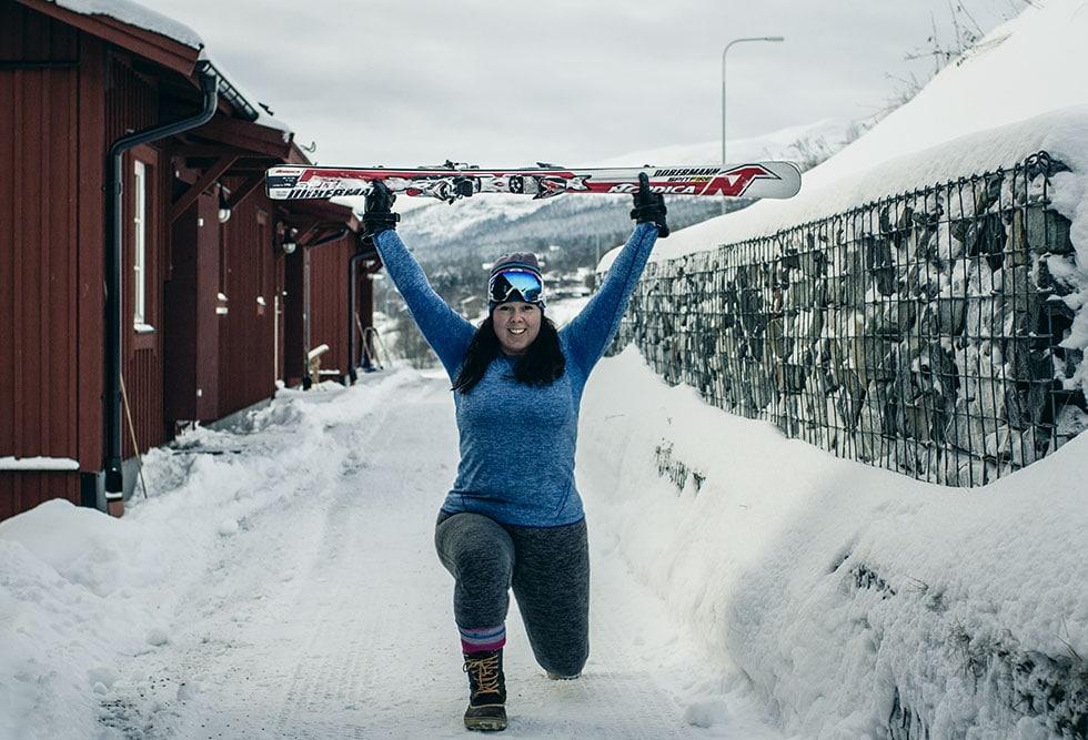 träning skidor