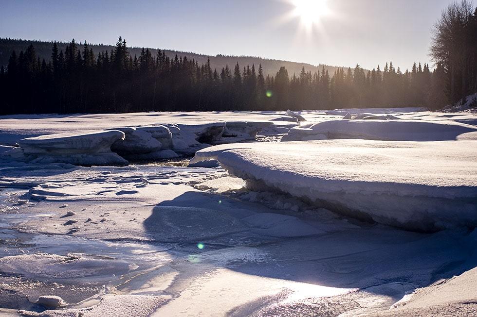 Ristafallet vinter