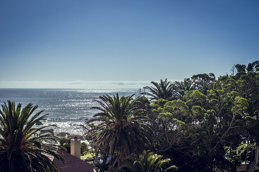 view from south beach hotel, camps bay