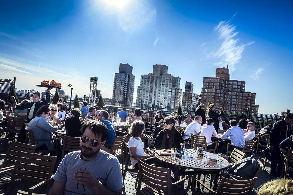 På ett tak i New York