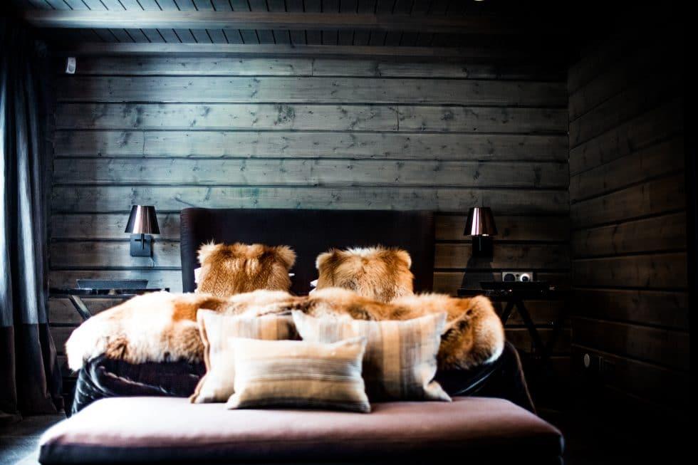 Sovrum i The Villa, Copperhill Åre. Petter Stordalens villa!