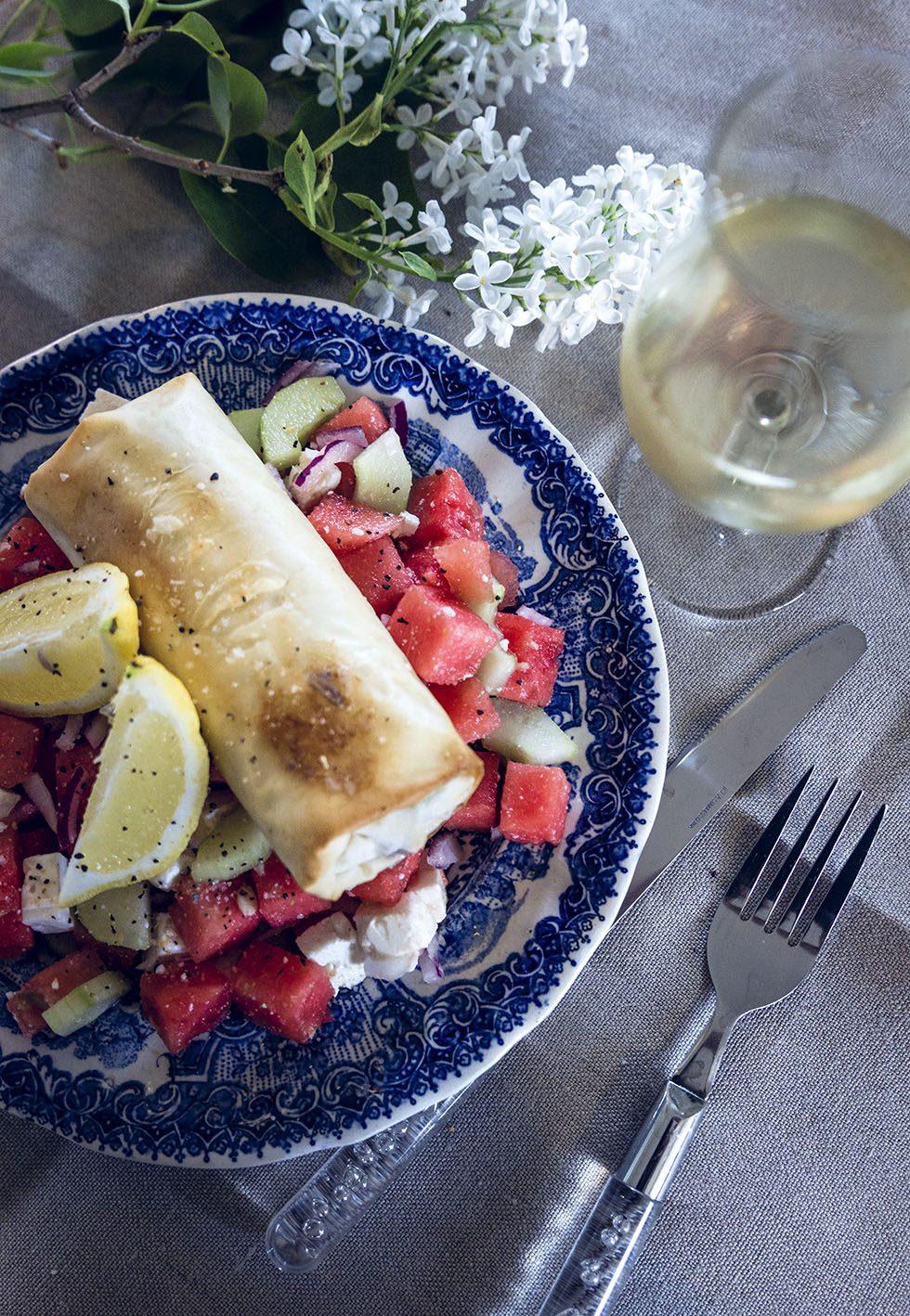 sallad vattenmelon och fetaost IMG_9254