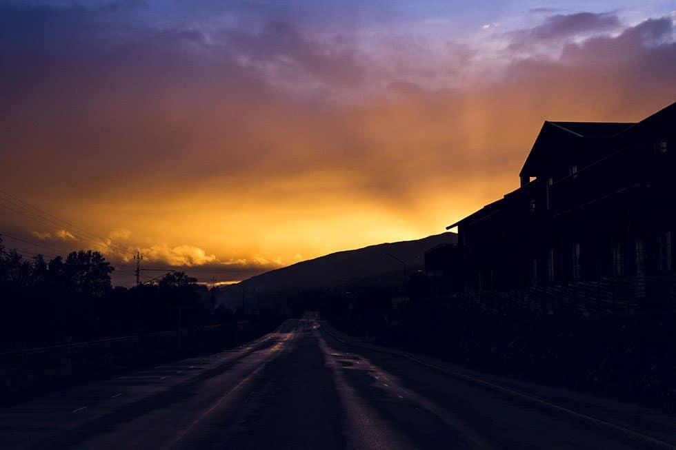solnedgång i åre
