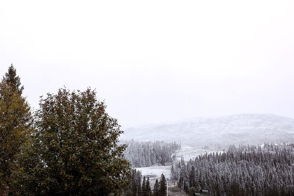 första snön i åre
