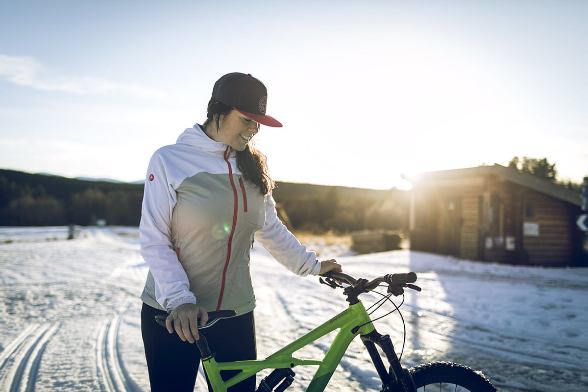 Stigcykling till Blanktjärn – på snö