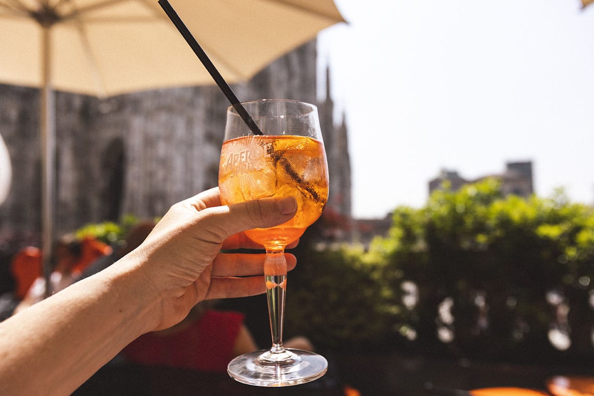 Milano takterass drink