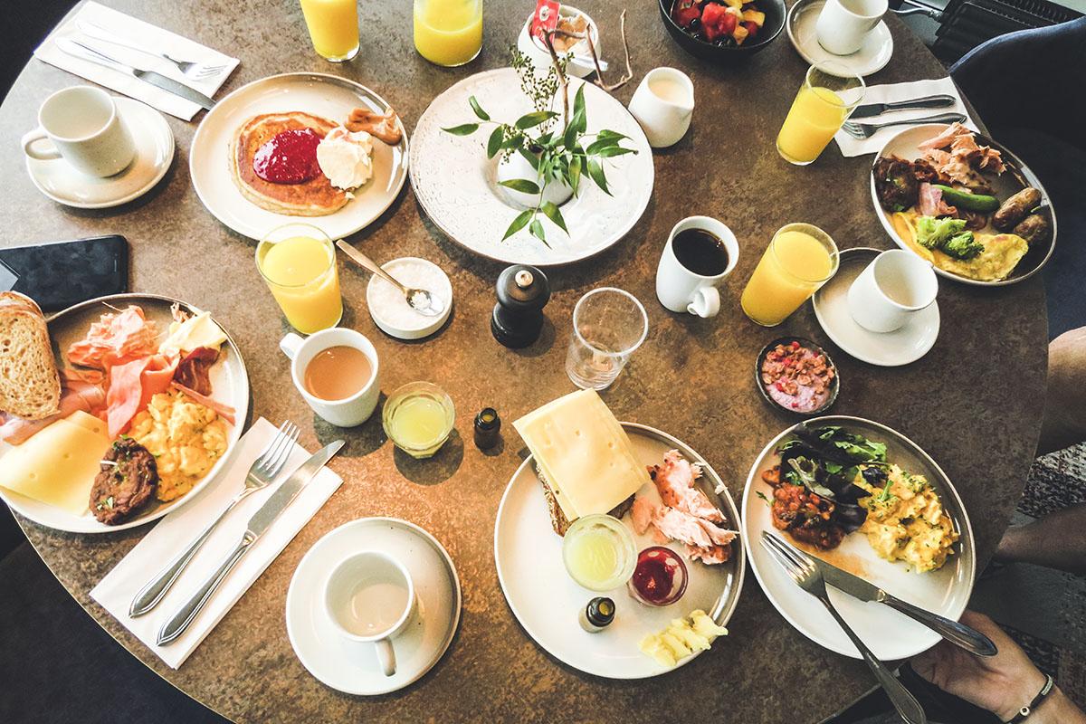 Trondheim Scandic Nidelven frukost
