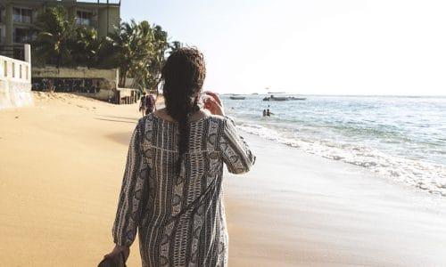 Solen och stränderna på Sri Lanka