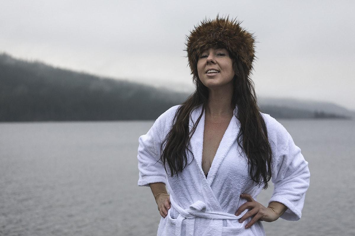 Kalla bad Sara Rönne vinterbad