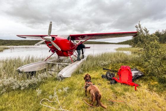 tur it på fjället med sjöflyg i gautosjö