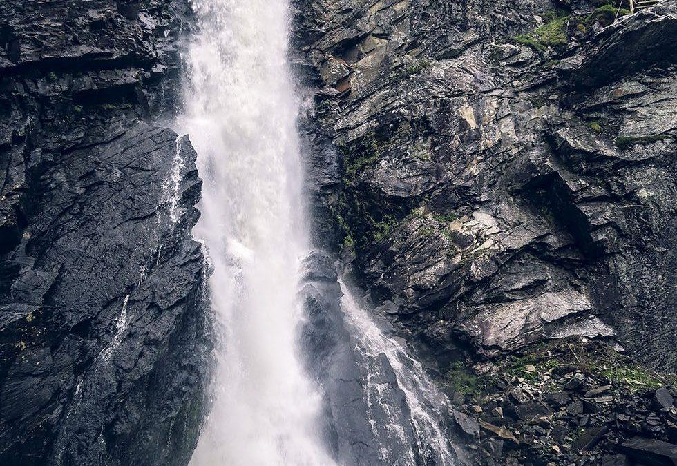 Brudslöjan vattenfall i Storlien