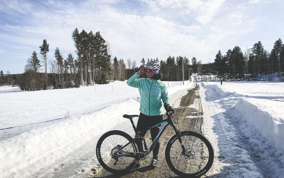 Årets första mountainbikecykling